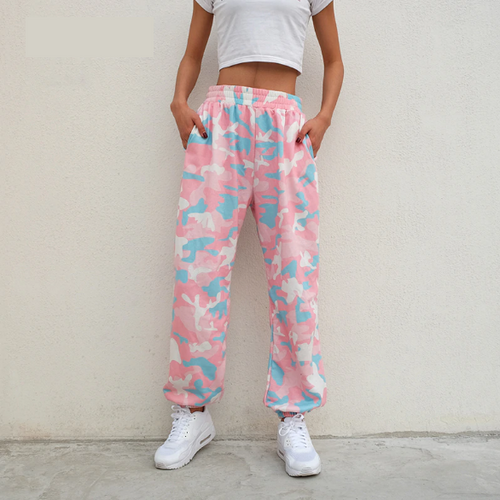 Pink Camouflage Sweatpants