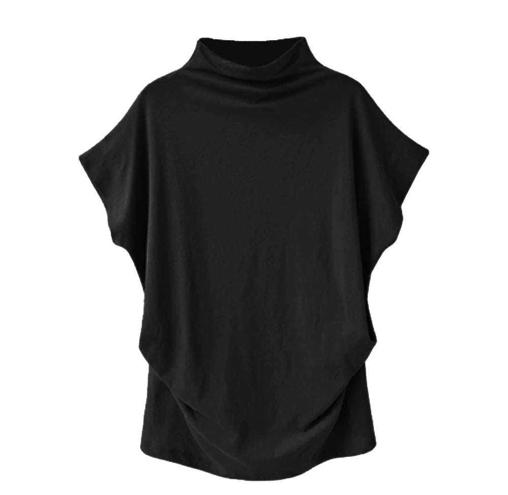Women's Casual Solid Turtleneck Blouse