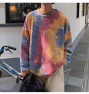 Tie Dye Colorful O-Neck Sweatshirt
