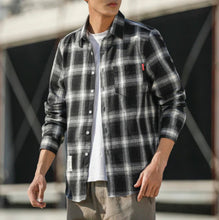 Load image into Gallery viewer, Casual Plaid Shirt Cotton Wool Men