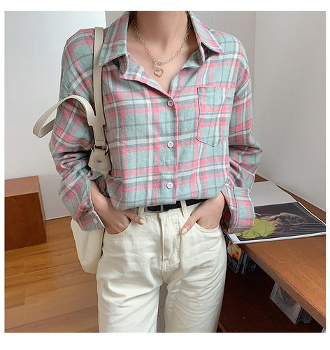 2 Colors Vintage Plaid Shirt