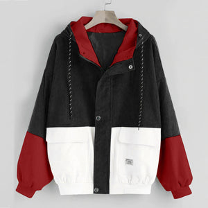 Color Block Corduroy Jacket