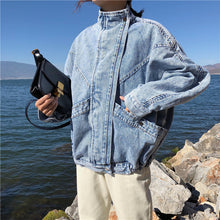 Load image into Gallery viewer, High Collar Denim Jeans Jacket