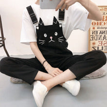 Load image into Gallery viewer, Cat Cartoon Printed Ankle Length Jumpsuit