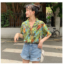 Load image into Gallery viewer, Fruit Flower Printed Blouse Shirt