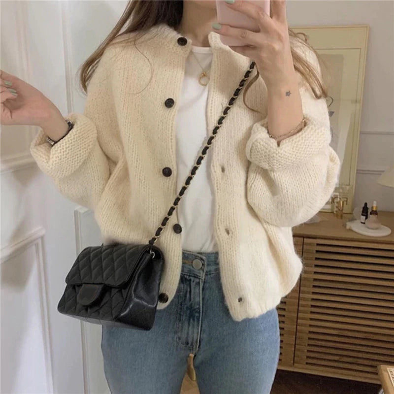 Casual Buttons Cardigan Sweater