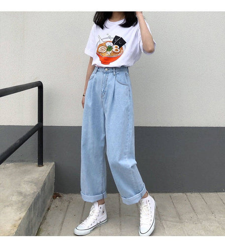 Vintage Wide Leg Denim Jeans Pants