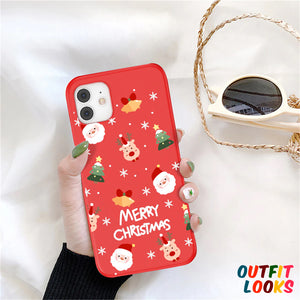 Cartoon Merry Christmas Case For iPhone