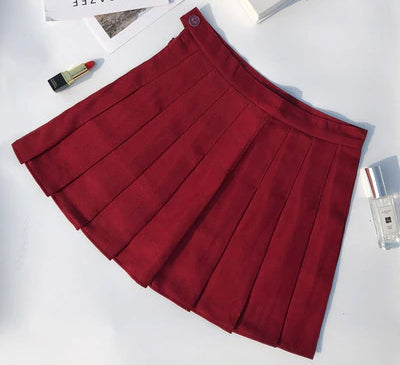 Women's High Waist Plaid Skirt