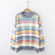 Load image into Gallery viewer, Candy Color Striped Sweater
