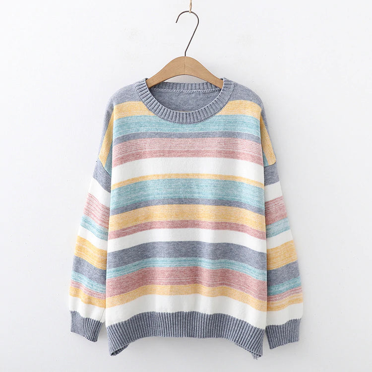 Candy Color Striped Sweater