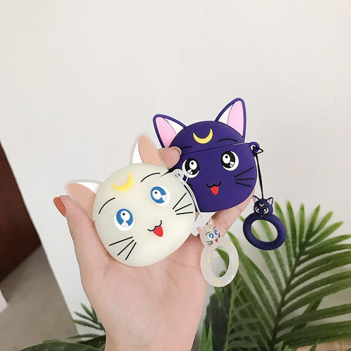 Cat Sailor Moon Cartoon Airpods Case