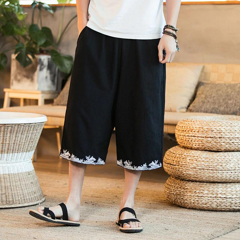 Chinese Fish Loose Wide Leg Men Pants