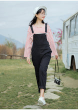 Load image into Gallery viewer, Black Color Casual Cotton Jumpsuit