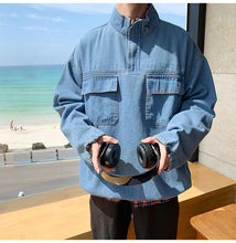 Load image into Gallery viewer, Front Pockets Casual Denim Jacket