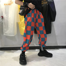 Load image into Gallery viewer, Orange Checkerboard Jogger Pants