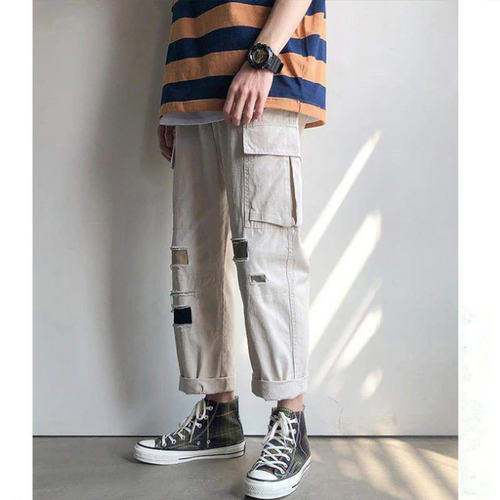 Ripped Hip Hop Style Cargo Pants