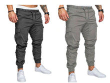 Load image into Gallery viewer, Elastic Joggers Casual Cargo Pants