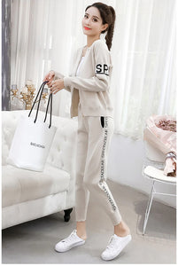 Sweater Sports Suit Women's Cardigan Thin Casual