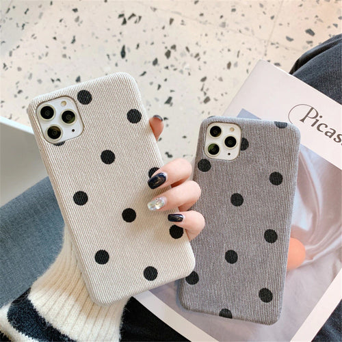 Vintage Dot Printed Case For iPhone