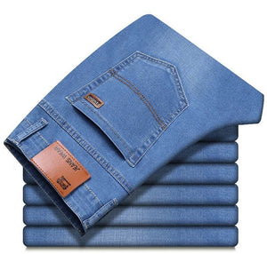 Slim Elastic Jeans Men's Classic Denim Pants