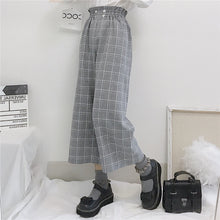 Load image into Gallery viewer, Plaid Ankle Length Chic Straight Pants