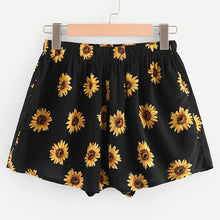 Load image into Gallery viewer, Sunflower Printed Sexy Shorts