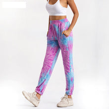 Load image into Gallery viewer, Purple Tie Dye Jogger Sweatpants