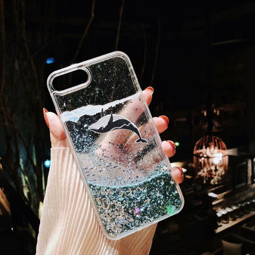 Cute Whale Transparent Case For iPhone