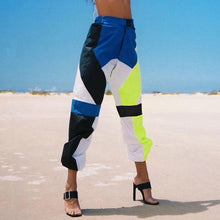 Load image into Gallery viewer, Casual Neon Contrast Color Jogger Pants