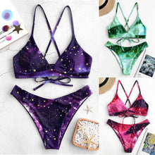 Load image into Gallery viewer, Stars Planet Printed Bikini Set