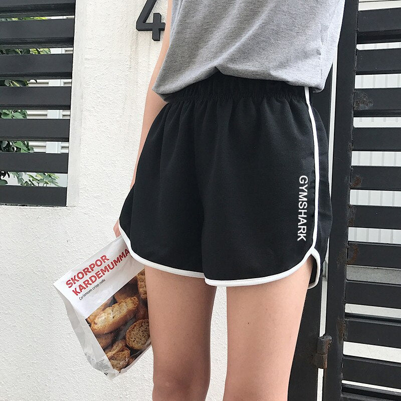 Gym Shark Letter Embroidered Short Pants