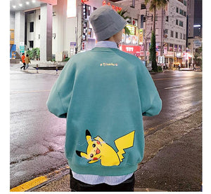 Pikachu Two Side Printed Sweatshirt