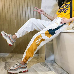 Casual Patchwork Pencil Cargo Pants