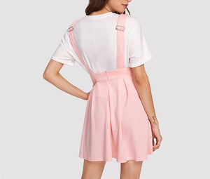 Pink Pleated Zip Up Back Dress
