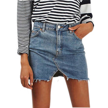 Load image into Gallery viewer, High Waist Cut Pencil Skirt Jeans