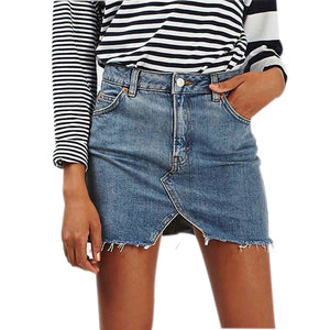High Waist Cut Pencil Skirt Jeans