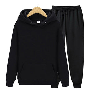 Men's Set Hoodies + Sweatshirt Pants Sweatpants Fashion Slim Fit