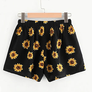 Sunflower Printed Sexy Shorts