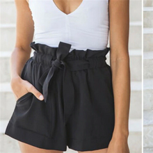 Load image into Gallery viewer, High Waist Bow Tie Belt Shorts