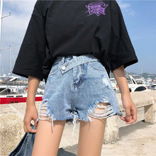 Load image into Gallery viewer, Irregular Button Style Sexy Jeans Shorts