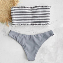 Load image into Gallery viewer, Striped Color Two Pieces Bikini Set