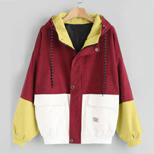 Load image into Gallery viewer, Color Block Corduroy Jacket
