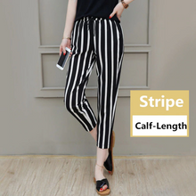 Load image into Gallery viewer, Casual Length Striped Simple Long Pants