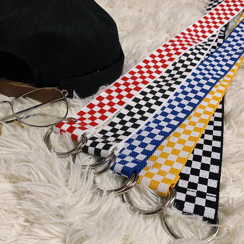 Casual Checkerboard Belt