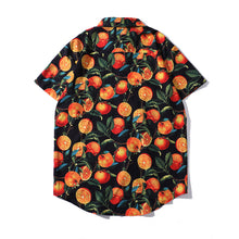 Load image into Gallery viewer, Orange Full Printed Blouse Shirt