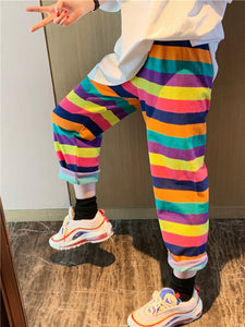 Colorful Striped Rainbow Pants