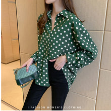 Load image into Gallery viewer, Polka Dot Style Long Sleeve Shirt