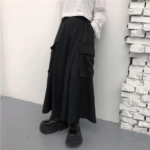 Large Pockets Wide Leg Loose Pants