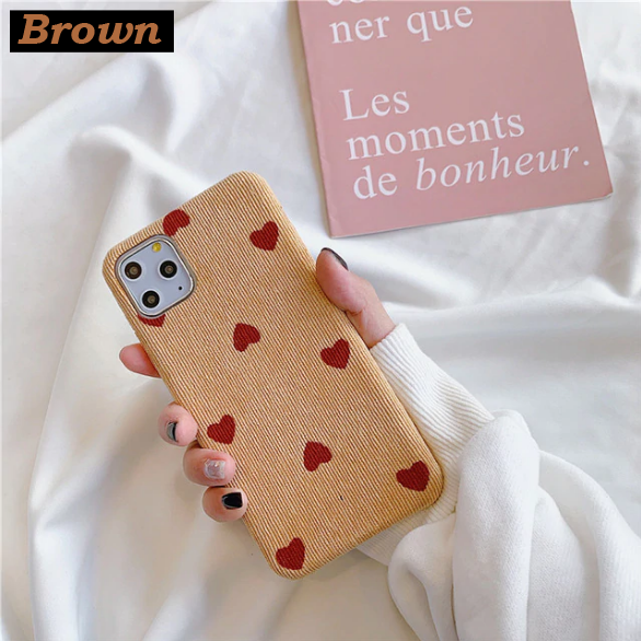 Heart Pattern Case For iPhone